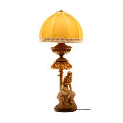 """Zeltīta bronzas skulptūra - lampa """"Ievas kārdināšana"""""""