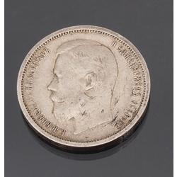 Sudraba 50 kapeiku monēta 1901.g.