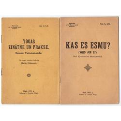 2 brošūras: Kas es esmu?; Yogas zinātne un prakse
