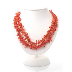 Sarkano koraļļu krelles( 2 gab.)