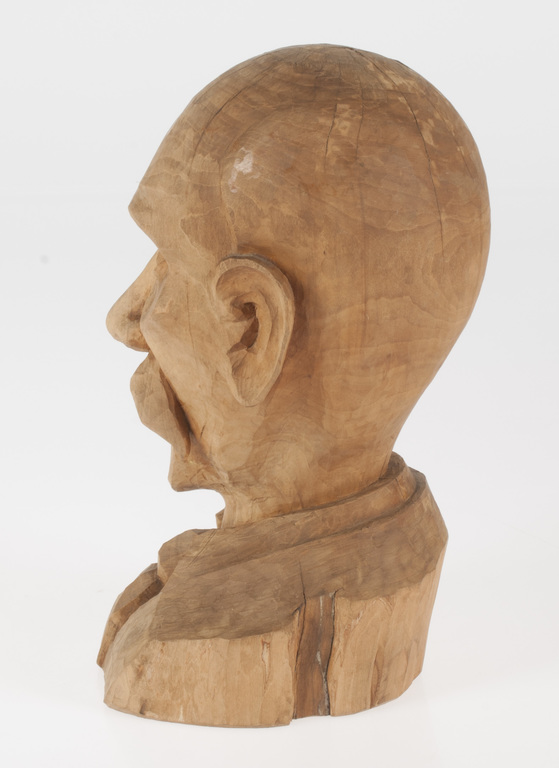 Wooden figure-bust
