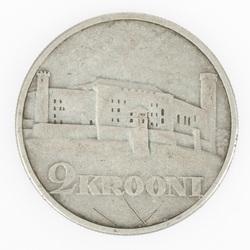 Igauņu divu kronu monēta 1930.g.