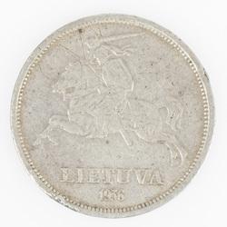 Lietuvas 5 litu monēta, 1936.g.