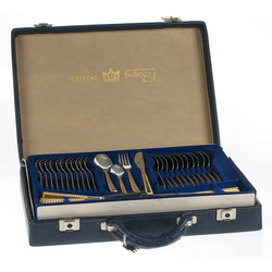 Cutlery set for 12 persons with the original packaging and guarantee