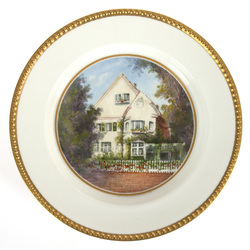"Porcelain decorative plate ""Mansion"""