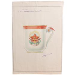 "Mets krūzei ""LPSR 10 gadu jubileja 1940-1950"""