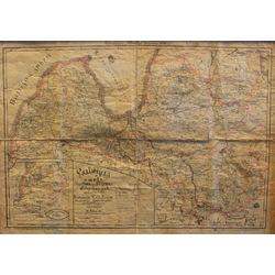 Latvijas karte - Kurzeme, Vidzeme un Vitebskas guberņa