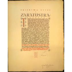 Kaligrafija Fridriha Nīčes Zaratrustra
