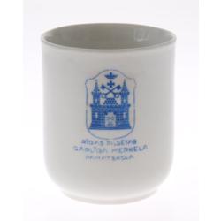 """Porcelāna trauks / glāze """"Rīgas pilsētas Garlība Merķeļa pamatskola"""""""