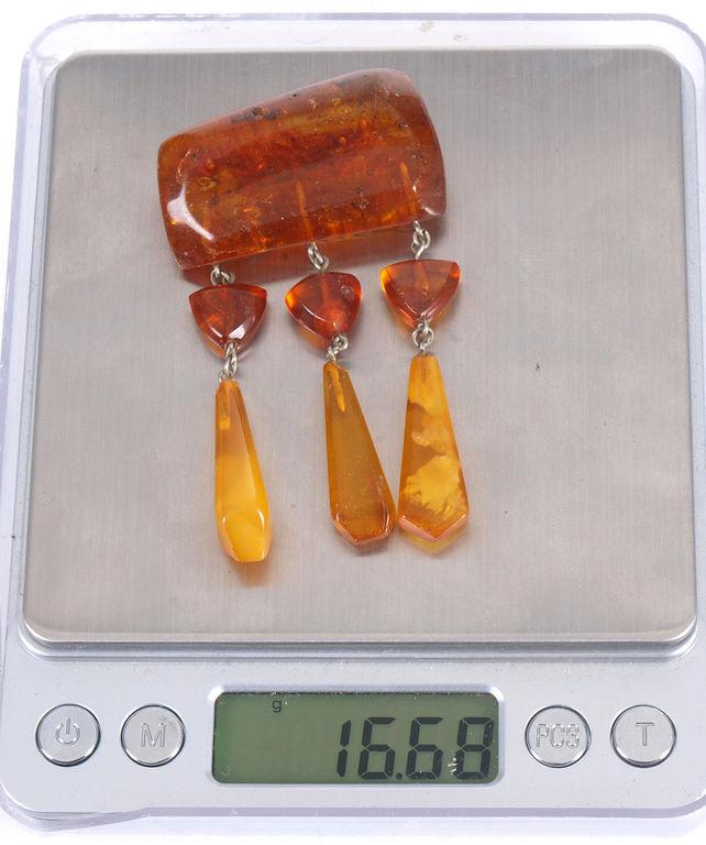 Dzintara broša, 16.68 g