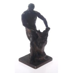"""Bronzas figūriņa """"Herkuless cīnoties ar Nēmejas lauvu"""""""