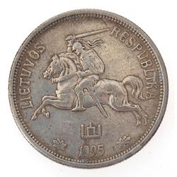 Sudraba monēta - 5 Penki Litai