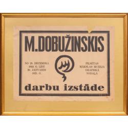 """Plakāts """"M. Dobužinskis. Darbu izstāde 1924"""""""