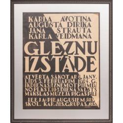 """Plakāts """"Gleznu izstāde 1924"""""""