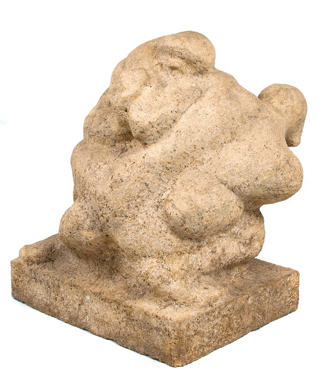 """Šamota skulptūra """"Cīkstoņi"""""""