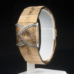 Omega zelta rokassprādze ar pulksteni
