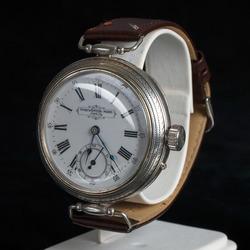 Sudraba rokas pulkstenis ar ādas siksniņu