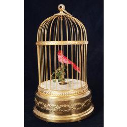 Dekoratīvs putnu būrītis ar dziedošu putniņu