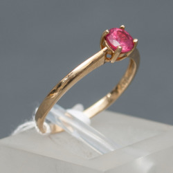 Zelta gredzens ar špineli