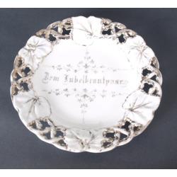 """Porcelāna šķīvis """"Sudrabkāzas"""""""