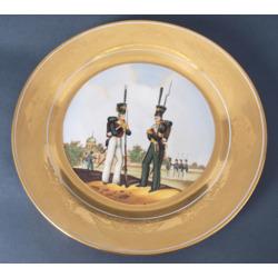"""Porcelāna šķīvis """"Kareivji"""""""