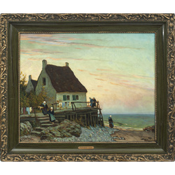 House near the sea (Normandy landscape)
