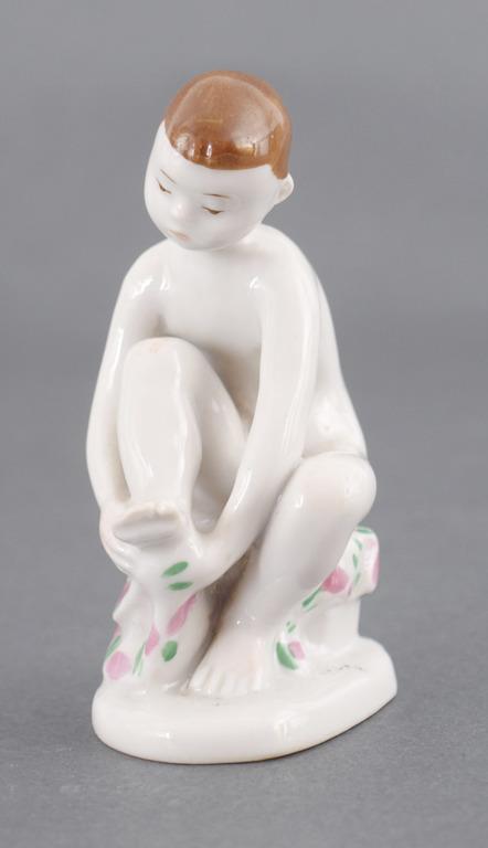 """Porcelāna figūriņa """"Zēns ar dvieli"""""""