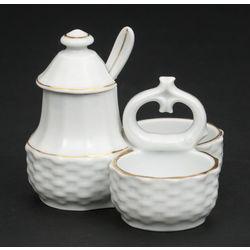 Porcelāna garšvielu trauciņš – trauks, vāciņš un karotīte