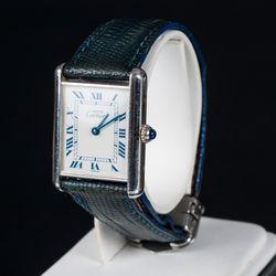 Cartier rokaspulkstenis ar ādas siksniņu