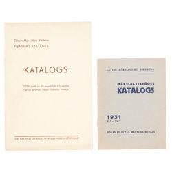 Divi izstādes katalogi