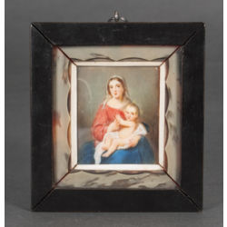 Miniature 'Madonna with child'