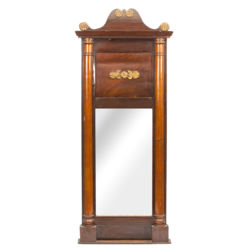 Mirror with wooden finish