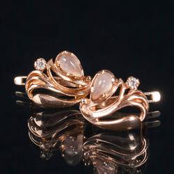 Zelta auskari ar briljantu