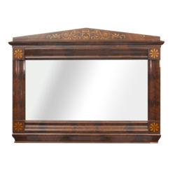 Biedermeier style mahogany wall mirror