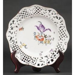 Porcelāna servējamais šķīvis Ziedi