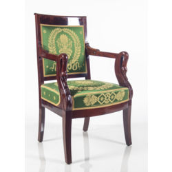 Ampīra stila sarkankoka krēsli(4 gab.)