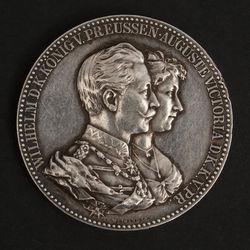 "Sudraba medaļa ""Wilhelm D.K.Konig V.Preussen Auguste Victoria D.K.K.V.PR."""