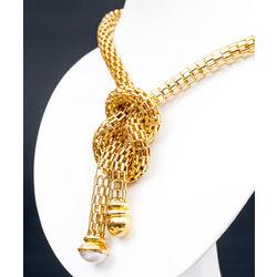 Zelta kaklarota ar pērli