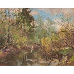Vasaras ainava ar upi