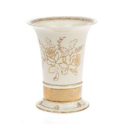 Zeltīta porcelāna vāze