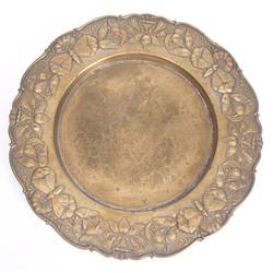 Jūgendstila misiņa šķīvis