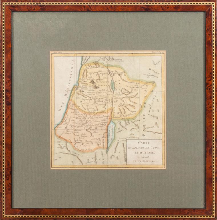 Jūdas karaļvalsts un Izraēlas karte