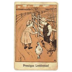 Pastkarte ''Preezigas Leeldeenas''