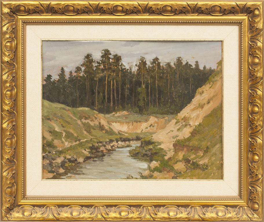 Volgas kanāls - apmākusies diena