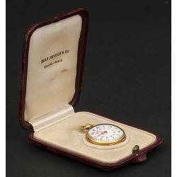 Zelta kabatas pulkstenis Haas Neveux & Co oriģinālajā kastītē