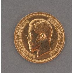 Zelta monēta 7.5 rublis, 1897 g