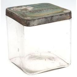 Stikla kārba ar metāla vāku ''Турецкий табакь''