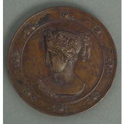Bronzas galda medaļa Rīgas dārzkopju biedrība