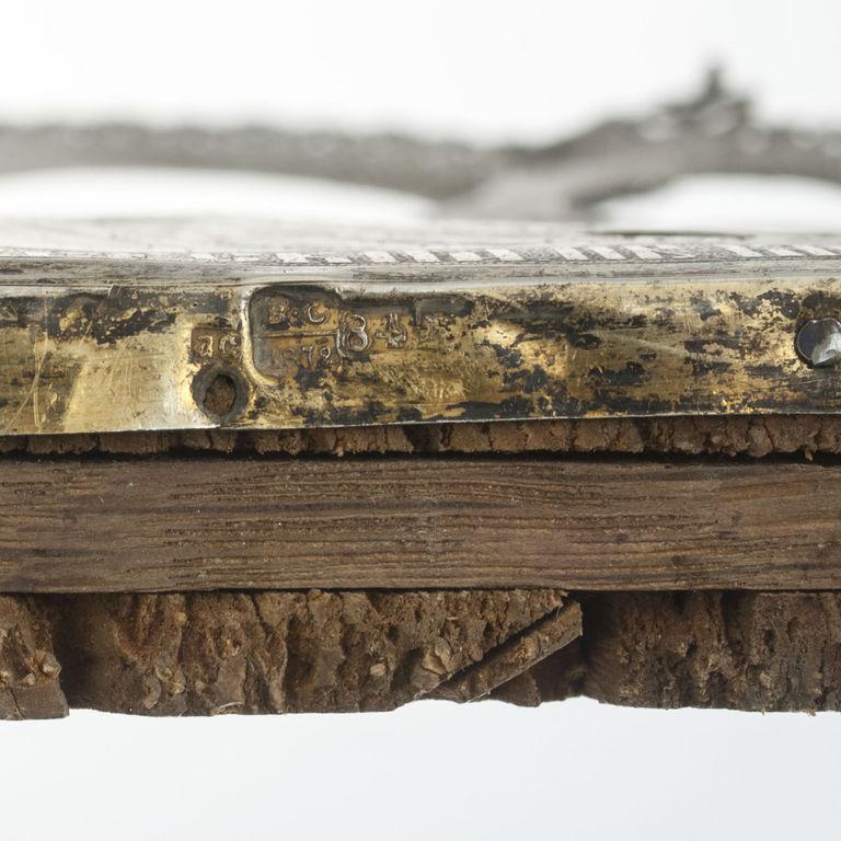Sudraba ikona koka rāmī