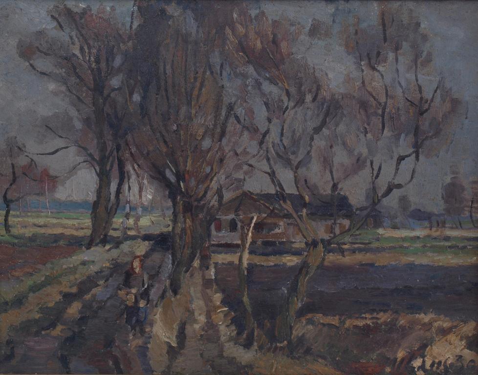 Sieviete uz lauku ceļa